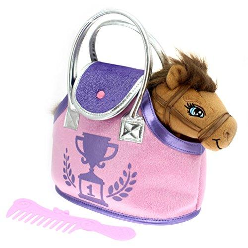 COLORBABY Pony marrón y Bolso Violeta, (Color Baby 85154)