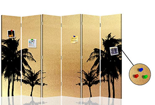 F FEEBY WALL DECOR Foto Biombo Corcho Palma 6 Paneles