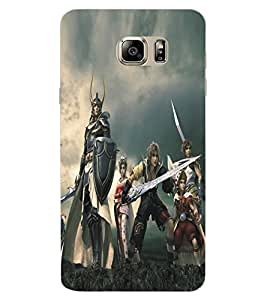 ColourCraft Warriors Design Back Case Cover for SAMSUNG GALAXY NOTE 6