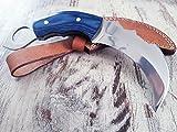 exclusives T-Rex Folder 'Blue-Edition' Karambit-Messer Honshu-Knive mit Hochglanz polierter Edelstahl Full-Tang Klinge