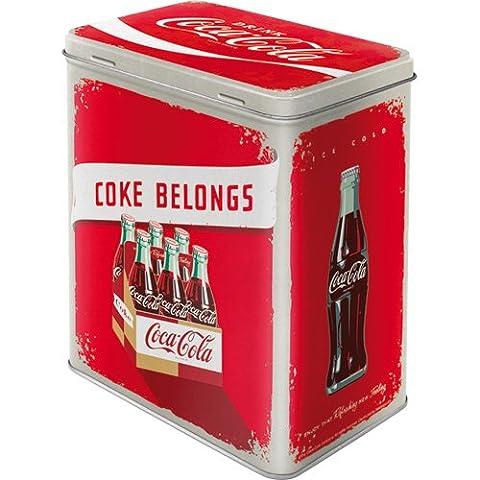Grande Boite rectangulaire métallique Coca-Cola