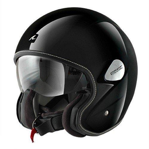Preisvergleich Produktbild HE7900EBLKL - Shark Heritage Blank Motorcycle Helmet L Black (BLK)