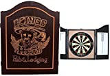 EMPIRE®™ Cabinet Kings Head schwarz inkl. WINMAU Sisal Board + EMPIRE® Dartset