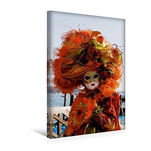 Calvendo Premium Textil-Leinwand 30 cm x 45 cm hoch, EIN Motiv aus dem Kalender Karneval in Venedig - Phantasievolle Masken | Wandbild, Bild auf Keilrahmen. Leinwand, Leinwanddruck Orte Orte