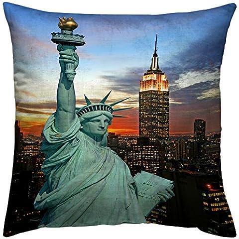 Diseño de piel de cebra de tela 35423 814 digital de la funda de almohada 50 x 50 cm la Estatua de la libertad