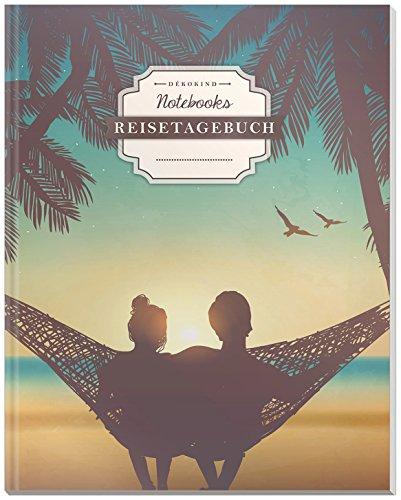 DÉKOKIND Reisetagebuch: DIN A4, 100+ Seiten, Register, Vintage Softcover | Perfekt als Abschiedsgeschenk | Motiv:  Romantik-Urlaub
