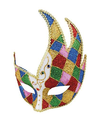 Kostüme Jester Damen (Boland 00200 Augenmaske Venice jester, Kostüm, One)