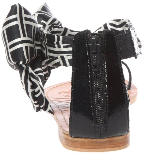 Colors of California Sandalo Con Tomaia In Foulard, Chaussures basses femme Noir (Bla)