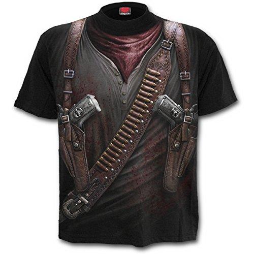 Spiral Holster Wrap Camiseta Negro L