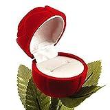 #9: Angel Jewels Velvet Red Rose Ring Jewellery Box For Men And Women