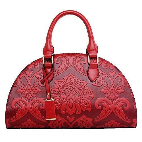Willsego Handtasche Schultertasche diagonal weibliche Tasche geprägte Knödel Paket chinesischen Stil (Farbe : Rot, Größe : 35 * 15 * 22CM) (Chinesische Rote Pakete)