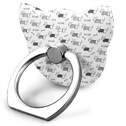 magic ship Corgi In Sweater Pattern Ring Stand 360°Rotation Thin Universal Phone Ring Holder Transparent Finger Ring Tablets cat Shape Land Pot Holder