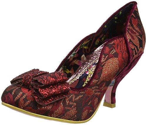 Irregular ChoiceLadies First - Scarpe con Tacco Donna Red (Bordo)