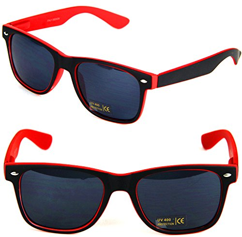 Nerd Clear Sonnen-Brille keine Sehstärke 15cm Unisex Panto-Brille Wayfarer Geek Kunststoff Schwarz...
