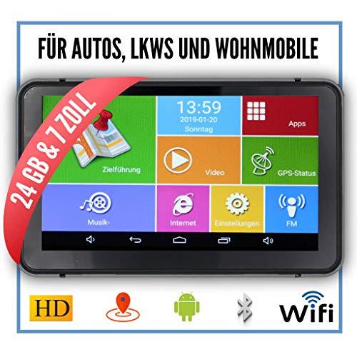 Elebest Pro A60 Navigationsgerät 17,8cm 7 Zoll Display,Android 6.0,WiFi,Radarwarner,Tablet PC,Für Wohnmobil,LKW,PKW,mit 24GB Speicher,Bluetooth,Kostenlose Kartenupdate,GPS