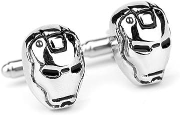 Ss Iron Man Silver Alloy Cufflinks for Men SS73