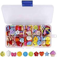 Botones Costura de Colores Mezclados Botones de Resina con Caja de Plástico para manualidades de DIY