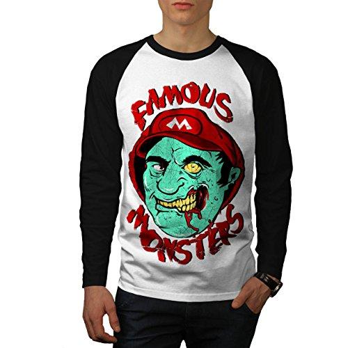 Mario Monster Tot Zombie Super Luigi Herren M Baseball lange Ärmel T-Shirt | (Super Tot Kostüm Mario)