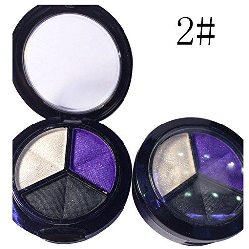 Mode New Supérieure cosmétique professionnelle Set 3 couleurs Kit de maquillage Palette poudre brosse à sourcils Pour Fille