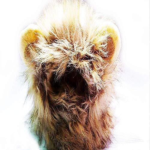 Jamisonme Festival Lion Mähne Perücke Lion Hair Kopfbedeckungen für Kleine Hunde und Katzen Welpen Cosplay Kostüm für Halloween Weihnachten Ostern Festival Party Aktivität ()