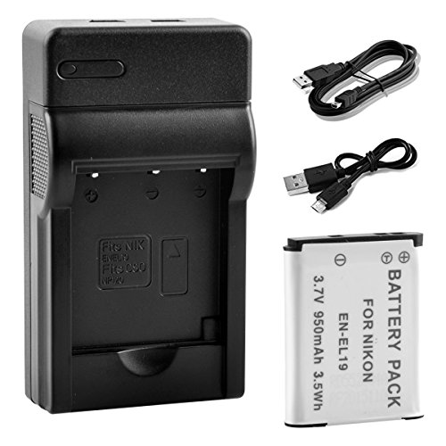 bps-en-el19-battery-mains-usb-charger-for-nikon-coolpix-s32-s33s7000-s100-s2500-s2550-s2700-s2900-s3