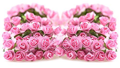 fiveseasonstuffr-144-stuck-papier-rose-blumen-kunstliche-blumen-perfekt-fur-hochzeit-gunst-boxen-par
