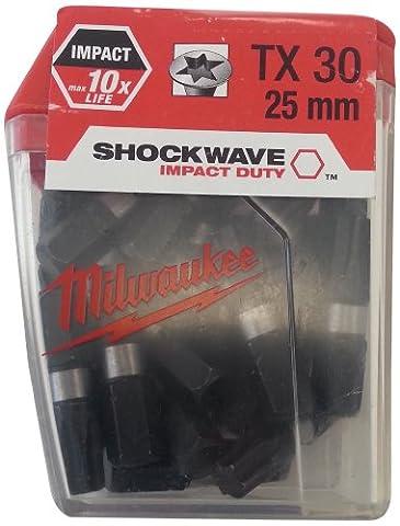 Milwaukee TX30 x 25 mm-BIT (4932352557 Lot de 25)