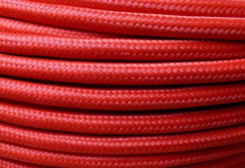Preisvergleich Produktbild 5m Textilkabel Stoffkabel rot 3x0,75qmm