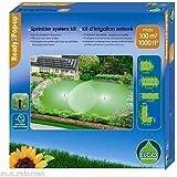 ELGO Irrigatore incassato Kit 100m² SK100 Inclusi 2 Irrigatori da giardino, Tubo PE, Angolo, Pezzo T, Attacco
