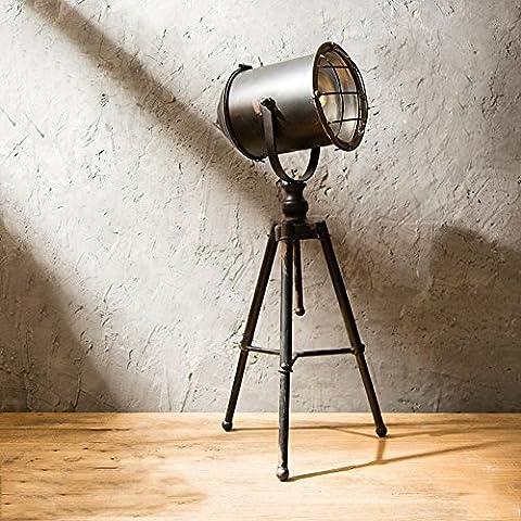 LZDHY Rétro feux de fer Lampes de table de style industriel Make Old LOFT Creative Window Wine Cabinet Decorative Props Cafe (à l'aide de la batterie, ne contient pas la batterie)
