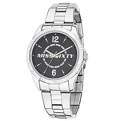 Miss Sixty R0753126505 - Reloj Analógico Para Mujer, color Negro/Plata