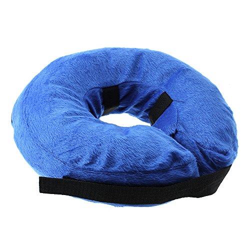 Homyl Aufblasbarer Hundekragen Hunde Halskrause Schutzkragen Blau, S-XL - L