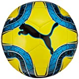 Puma Final 6 MS Trainer Ballon de Foot Mixte Adulte, Blazing Yellow/Bleu Azur Black,...