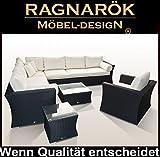 RAGNARÖK PolyRattan - DEUTSCHE Marke - EIGNENE Produktion - 8 Jahre GARANTIE auf UV Besträndigkeit - GartenMöbel