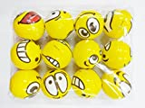#10: Cute Funny Yellow Emoji Smiley Face Squeeze Ball Pack of 12