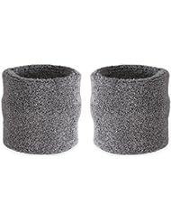 Suddora - Muñequeras, algodón, 2 unidades Gris gris