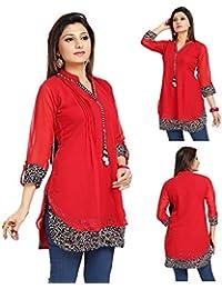 b0fd6576e9c20 Unifiedclothes Women Fashion Casual Indian Kurti Tunic Kurta Top Shirt Dress  SC1030R