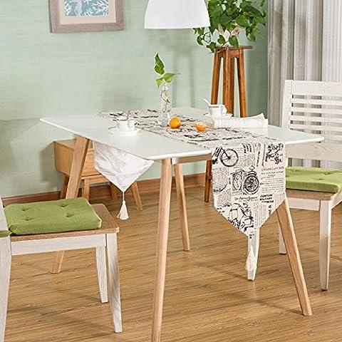 LD&P Mode pastorale 100% Baumwolle gedruckt Tischläufer Hause Couchtisch TV Schrank Tischdecke Hotel Bett Flagge Partei, (Schuhkarton-geschenke Für Weihnachten)