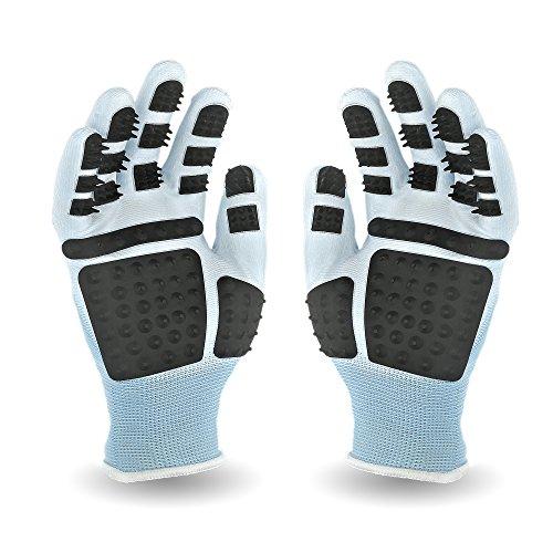 PEGACARE Fellpflege Handschuhe S,M,L,XL-optimale Tierpflege für Pferde, Hunde und Katzen. Die...