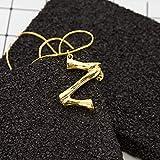 Eqerlian Halskette 26 englische Buchstaben übertrieben Mode englisches Alphabet Anhänger,Z
