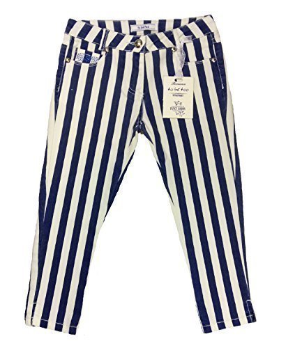 Ragazze A Righe Pantaloni 4-7 Anni To Be Too Italia - Blu, 110cm - approx 4 to 5 Years Old, Blu
