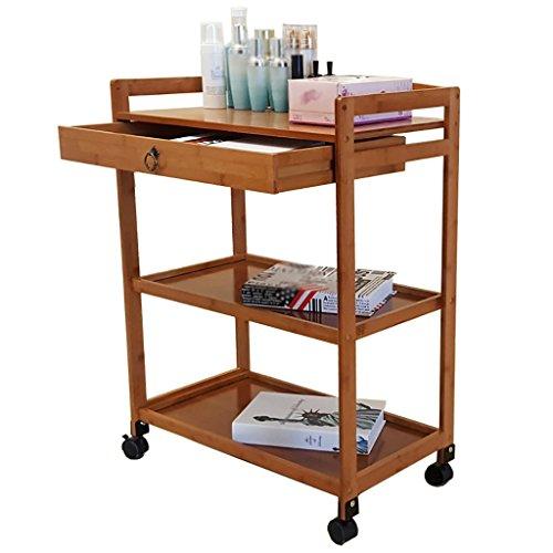 AIDELAI Schweberegale Hängeregale DREI Schichten von Mobile Small Cart Home Wind IKEA Racks Küche Regal mit Rad Lagerregal 60 * 32 * 80 cm