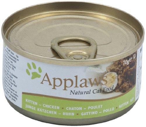 Applaws Katze Dose Kitten mit Hühnchen, 24er Pack (24 x 70 - Kitten Katzenfutter Applaws