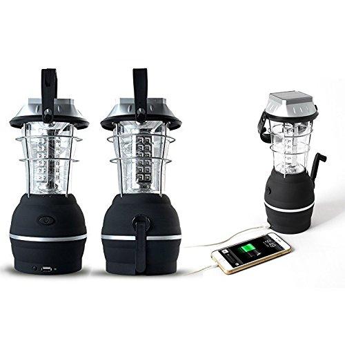 Itian Solar-Camping-Licht, 3 Modus Kurbel-Dynamo-kampierende Solarlampe, 36 LED Nachladbare Camping Licht Notarbeit Laterne, Ultra Bright, Wasserdicht, USB-Gebühr