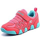 Enfant Chaussures de Sport Course Baskets Basses Sneakers Casual Outdoor Running Tennis Chaussure de Walking Shoes pour Garçon Fille, rose 25
