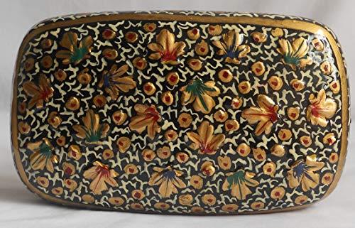 Jewelry Box handgefertigt von Papier Pappmaché, traditioneller Look, Ohrringe Schmuckkästchen. Geschenke für ihre -