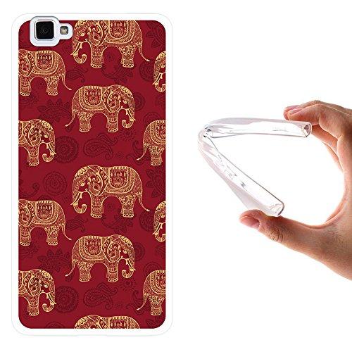 WoowCase Cubot X15 Hülle, Handyhülle Silikon für [ Cubot X15 ] Indischer Stil mit Elefanten-Muster Handytasche Handy Cover Case Schutzhülle Flexible TPU - Transparent