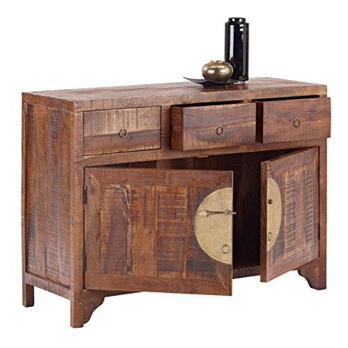 Wolf Möbel CHINA 8278 Kommode mit 3 Schubladen, 2 Türen, Holz, forest, 42 x 120 x 85 cm