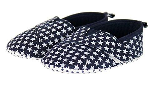 Soft-Touch-Baby-Stern-Velcro Plimsolls - 0-12 Monate - Zwei Entwürfe Blue