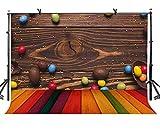 EdCott 7x5ft Legno Sfondo Cioccolato Fagioli Vari Jelly Fagioli Fotografia Sfondo Fotografia Sfondo LYLF006